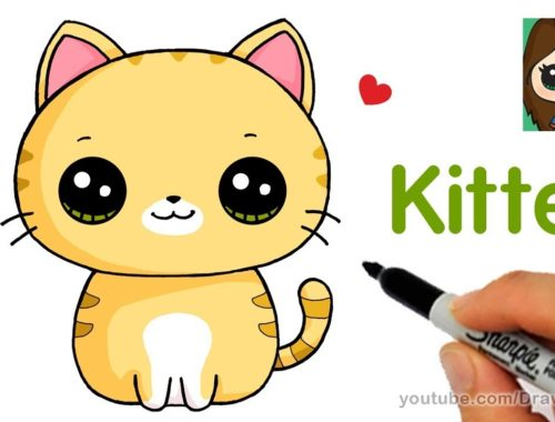 Easy Drawings For Kids To Learn Archives Cute Kittens Videos